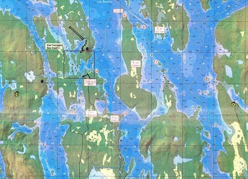 map of oasis du gouin outfitter